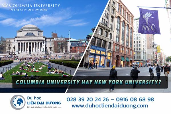 Đại học New York và Đại học Columbia là 2 lựa chọn của rất nhiều sinh viên Việt Nam